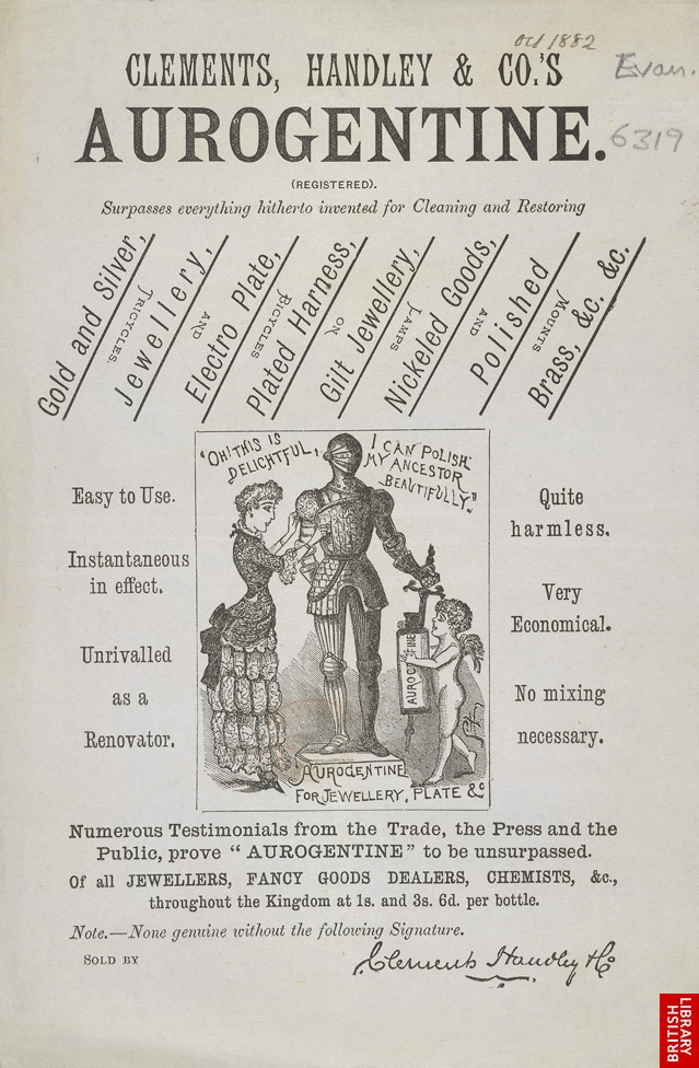 Advert For Clements, Handley & Co's Aurogentine Cleaning Aid